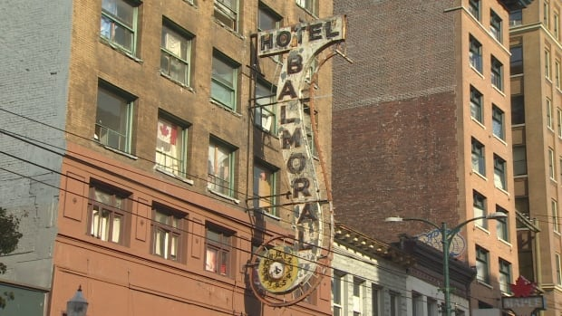 The Balmoral Hotel is a single room occupancy hotel on Vancouver's Downtown Eastside.
