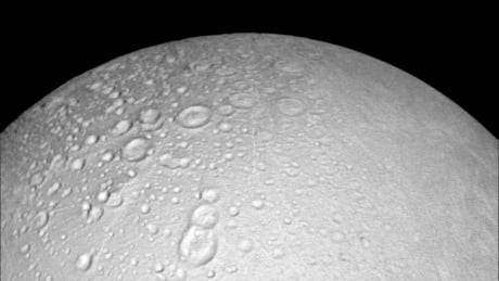 Craters north pole Enceladus