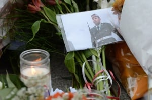 Ottawa Shooting Nathan Cirillo memorial flowers
