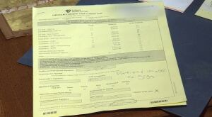 Naveed Ahmed's hospital discharge paper