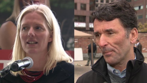 Liberal candidate Catherine McKenna (left) is hoping to unseat NDP incumbent Paul Dewar.