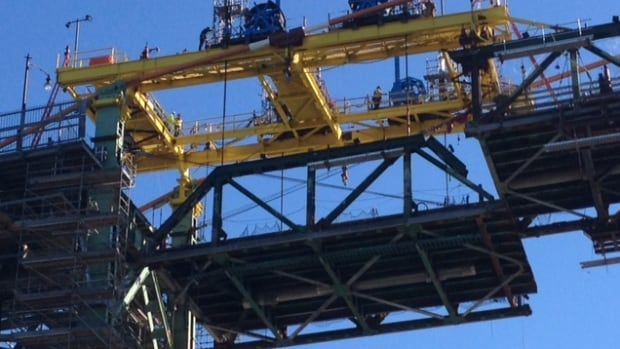 Halifax Harbour Bridges anticipates the lifting gantry will be moved before midnight.