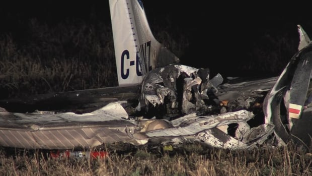 This is all that remains of the small plane that crashed in northern B.C. on Friday night.