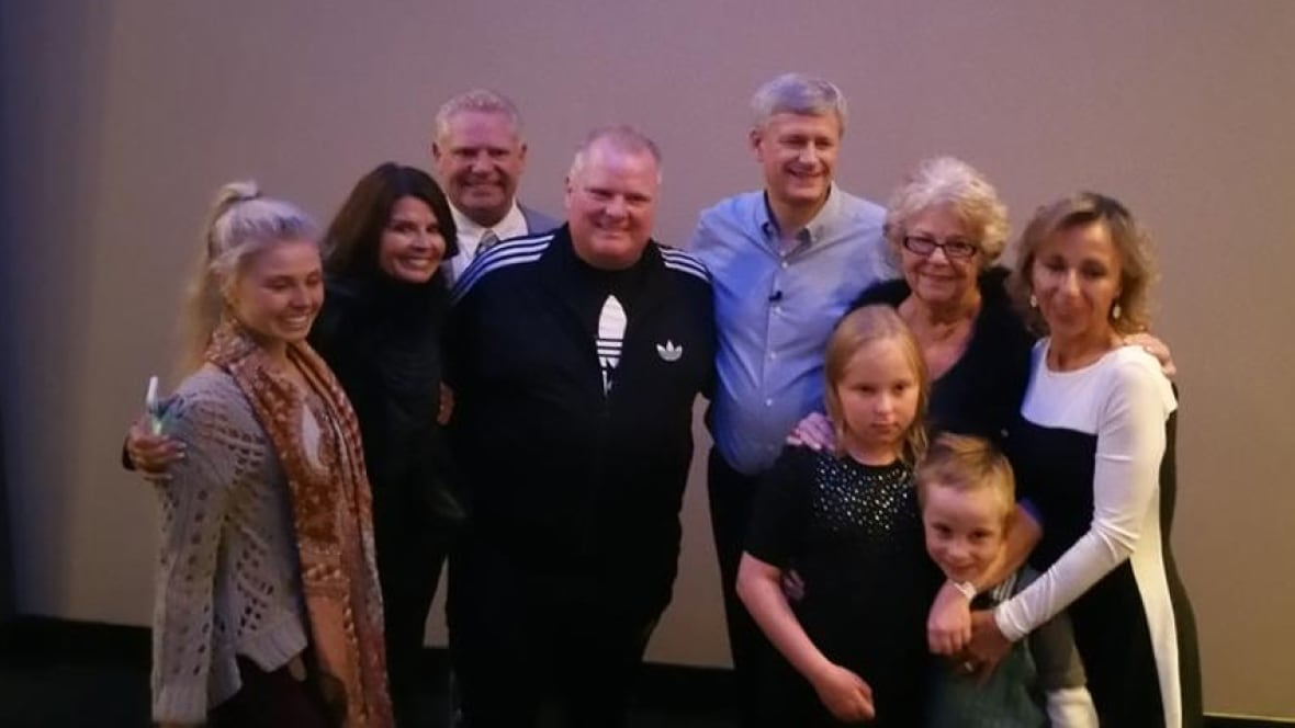 Stephen Harper Hammers Home Message Poses With Fords At