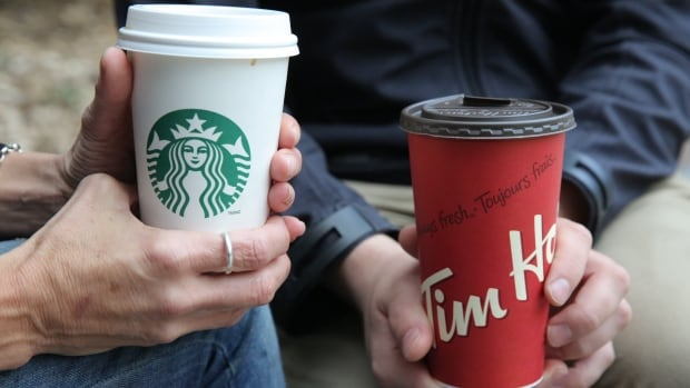 Starbucks and Tim Hortons have recycling bins in many locations. But CBC Marketplace discovered that many of those cups go to landfill.