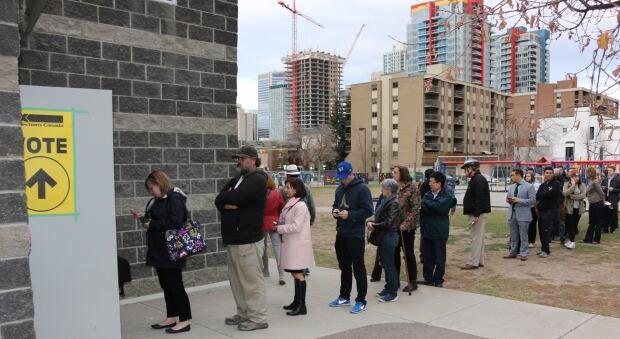 Voters in Calgary