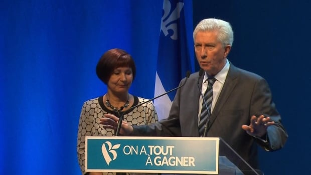 """These are not the results we were hoping for,"" BQ Leader Gilles Duceppe, who lost his seat in the race, says to a crowd of supporters on election night in Montreal."