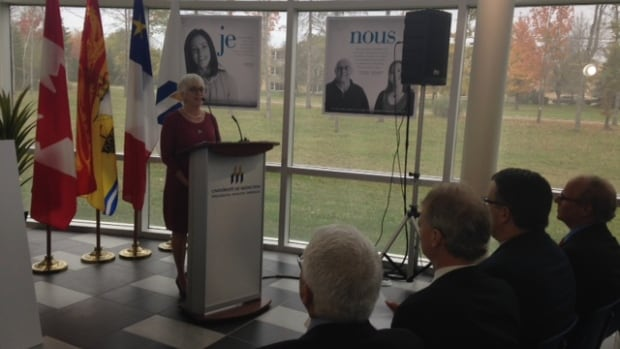 Social Development Minister Cathy Rogers announces a new 60-bed nursing home contract for Moncton.
