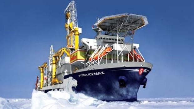 Shell Canada says the Stena IceMAX, a drill ship, arrived at its drilling location on Monday with a number of Nova Scotian crew members on board.