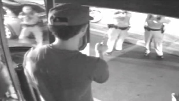 Surveillance footage shows Sammy Yatim moments before he was shot by police aboard a Toronto streetcar. Const. James Forcillo is charged with second-degree murder and attempted murder in Yatim's death.