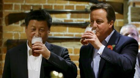 china xi jinping britain david cameron beer