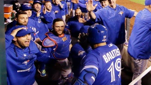 The Toronto Blue Jays celebrate Jose Bautista's second home run in Game 6 of the American League Championship series. While the team's World Series dream ended last night, there are plenty of positives to take from this season.