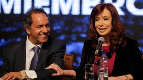 Argentina Elections - Daniel Scioli and Cristina Fernandez