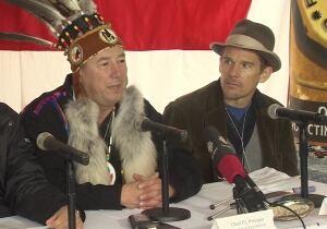 Ethan Hawke and chief Paul (PJ) Prosper of Paq'tnkek First Nation