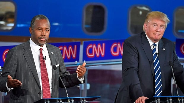 Neck and neck. Primary polls show Ben Carson, left, leading in Iowa, the first real fight, by a significant margin, while Donald Trump is still polling well among Republicans across the country.