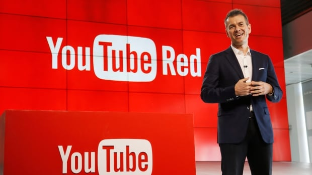 Robert Kyncl, YouTube chief business officer, unveils YouTube Red, a new subscription service on Oct. 21, 2015 in Los Angeles.