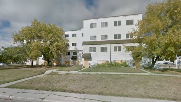 The city hopes to replace this 80-unit housing complex in Londonderry, which is no longer fit for human habitation, with a high-density mixed-income building.