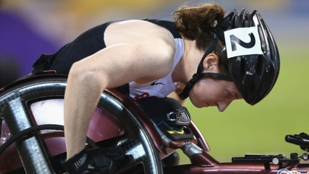 Canada's Ilana Dupont of Canada competed in the women's 400m T53 final on Day 4 of the IPC athletics world championships in Doha.