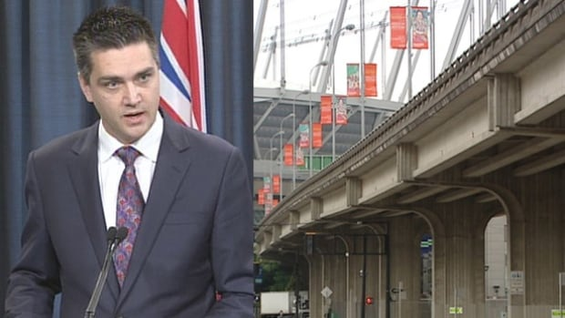 B.C. Transportation Minister Todd Stone says the City of Vancouver's plan to remove the viaducts is not a done deal.
