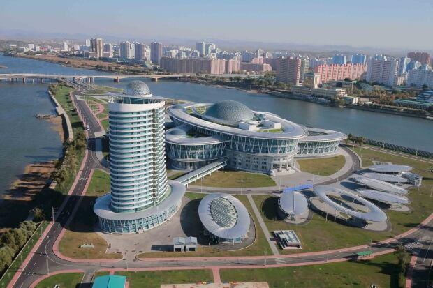 Photos of futuristic North Korean buildings belie widespread poverty