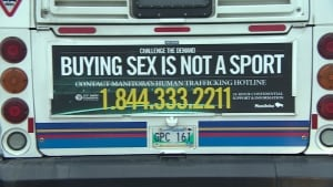 Buying Sex is Not a Sport sign