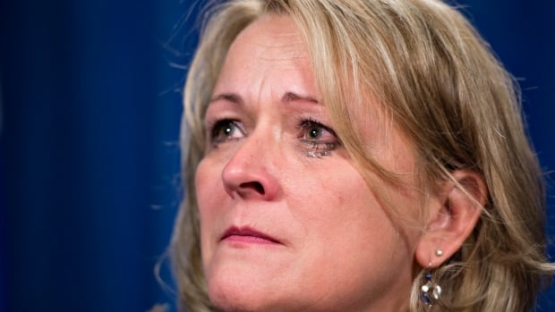 Quebec Public Security Minister Lise Thériault was visibly upset during a news conference last week during which she said eight provincial police officers who allegedly sexually assaulted native women had been put on administrative leave.