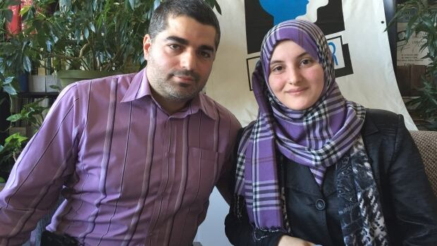 Asma Al-Shawarghi, pictured with her husband Bilal Hamideh, wants Costco to enforce their nondiscrimination policies with employees.