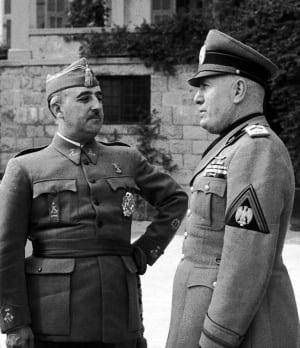 Francisco Franco, Benito Mussolini