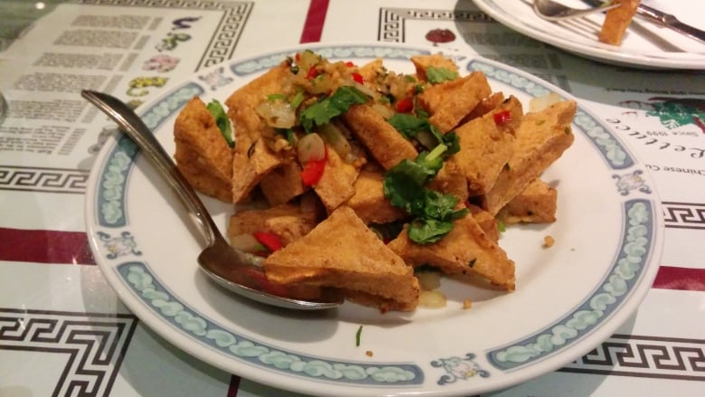 The hot and spicy tofu at Green Lettuce. This Indian-style Chinese ...