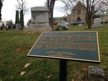 duncan campbell scott plaque beechwood cemetery ottawa november 1 2015