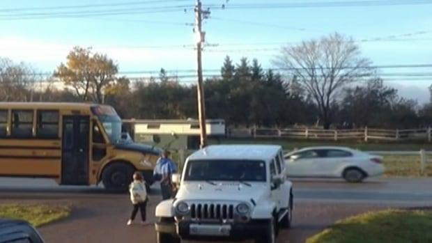 traffic speeding by school bus in P.E.I.