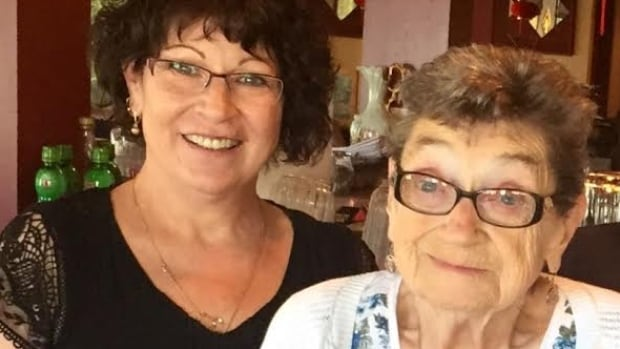 Eighty-four-year-old Emily Houston (right) was a resident at the Kamloops Seniors Village care home, when she fell after being pushed last July — an incident that led to her death, according to the coroner.