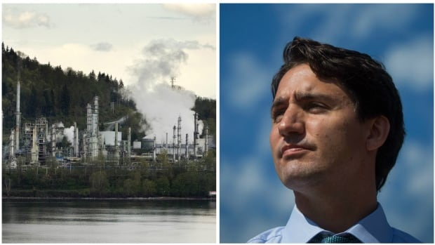The Chevron Burnaby Oil Refinery sits in the inner harbour of Burrard Inlet in West Vancouver. The Tories failed to set any industry standards for emission reductions, just one reason why the incoming environment minister in Justin Trudeau's cabinet will face an uphill battle to cut greenhouse gases.