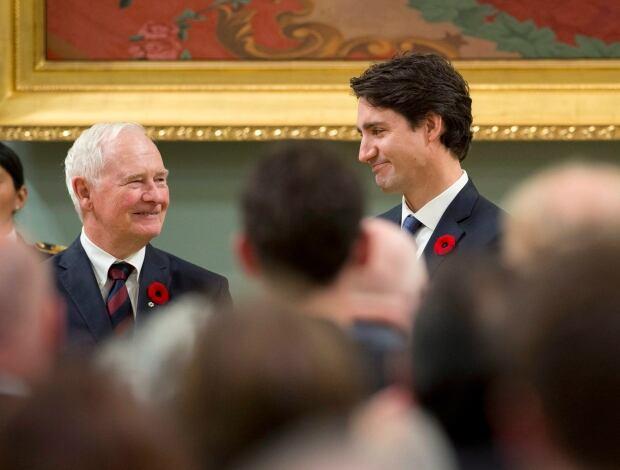 Trudeau and david johnston