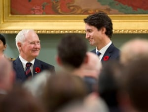 Trudeau and david johnston