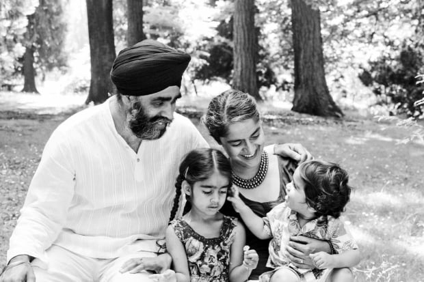 Harjit Sajjan and family