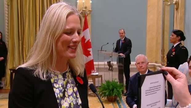 Catherine McKenna becomes minister for environment and climate change in Ottawa on Nov. 4, 2015.