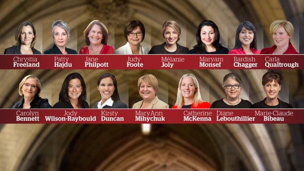 On Wednesday, 15 women were appointed as federal cabinet ministers under Prime Minister Justin Trudeau.