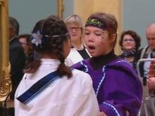 Inuit throatsingers, swearing-in ceremony