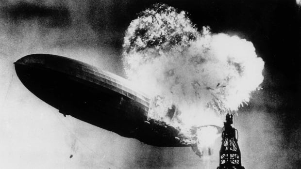 Explosion of the airship Hindenburg.