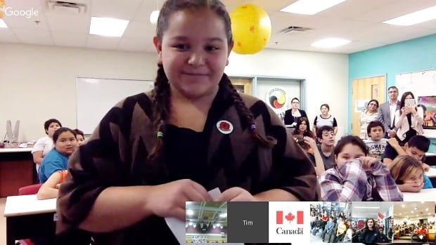 Students from five different schools across Canada were able to ask questions of their new prime minister in a video chat, just hours after he'd been sworn in.