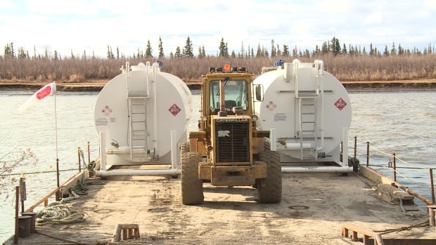 In September the Northwest Territories Power Corporation had its tanks waiting on the town docks in Inuvik, ready to go to Aklavik in case it wasn't able to negotiate a suitable price with Beaufort Delta Petroleum for diesel.