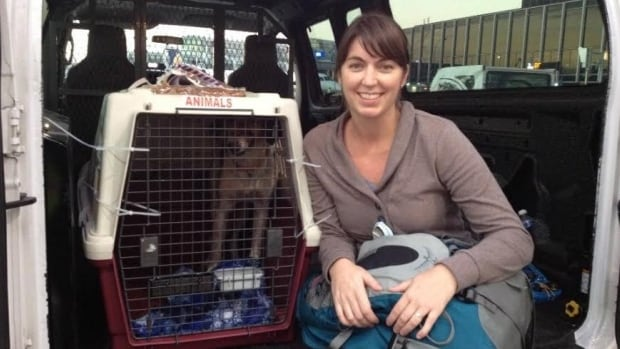 Andrea White travelled with Tyson from Nicaragua to Ottawa.