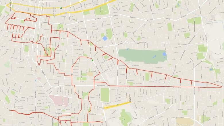 Stephen Lund GPS T-rex doodle