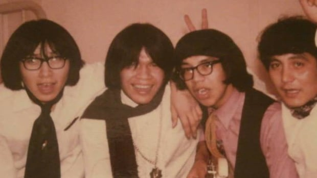 The Feathermen were a mainstay in the indigenous music scene in Winnipeg, and launched the careers of people like Billy Joe Green (second from the right).