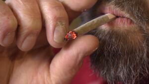 Smoking weed, marijuana, joint
