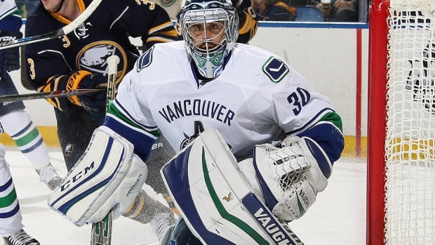 Canucks goalie Ryan Miller will be hoping for a better effort from his teammates in Sunday's game against the Devils in New Jersey. Coverage problems and turnovers by Vancouver's defence and forwards led to three goals in Saturday's 3-2 loss to Buffalo to begin a seven-game road trip.