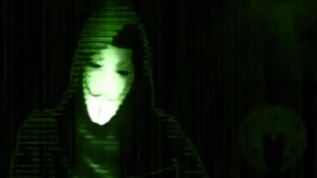 This still image is from a video the online activist group Anonymous posted online, naming the alleged perpetrator of a sexual assault in Halifax. Police have re-opened the investigation, but call the video 'irresponsible.'