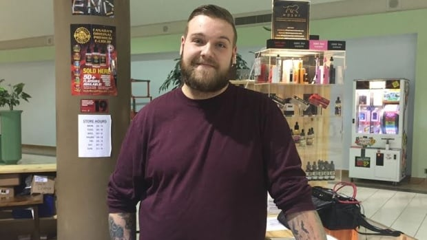 Matt Boucher is a sales consultant at Pete's Puff 'n' Stuff at the Rainbow Centre in Sudbury.