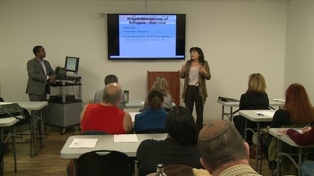 Refugee information sessions